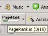 Google PageRank as seen at the Google Toolbar