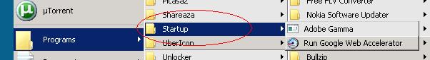 Windows Startmenu->Start-up
