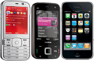 Nokia N79 N85 vs iPhone 3G