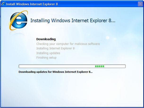 Installing IE8 Beta