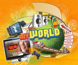 PLDT MyDSL MyWorld Logo
