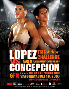 "Juan Manuel Lopez vs. Bernabe Concepcion ""The Challenge"""